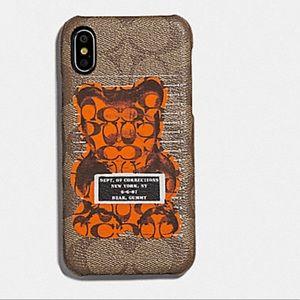 🆕 Coach Ltd Ed Vandal Gummy iPhone X/XS Case